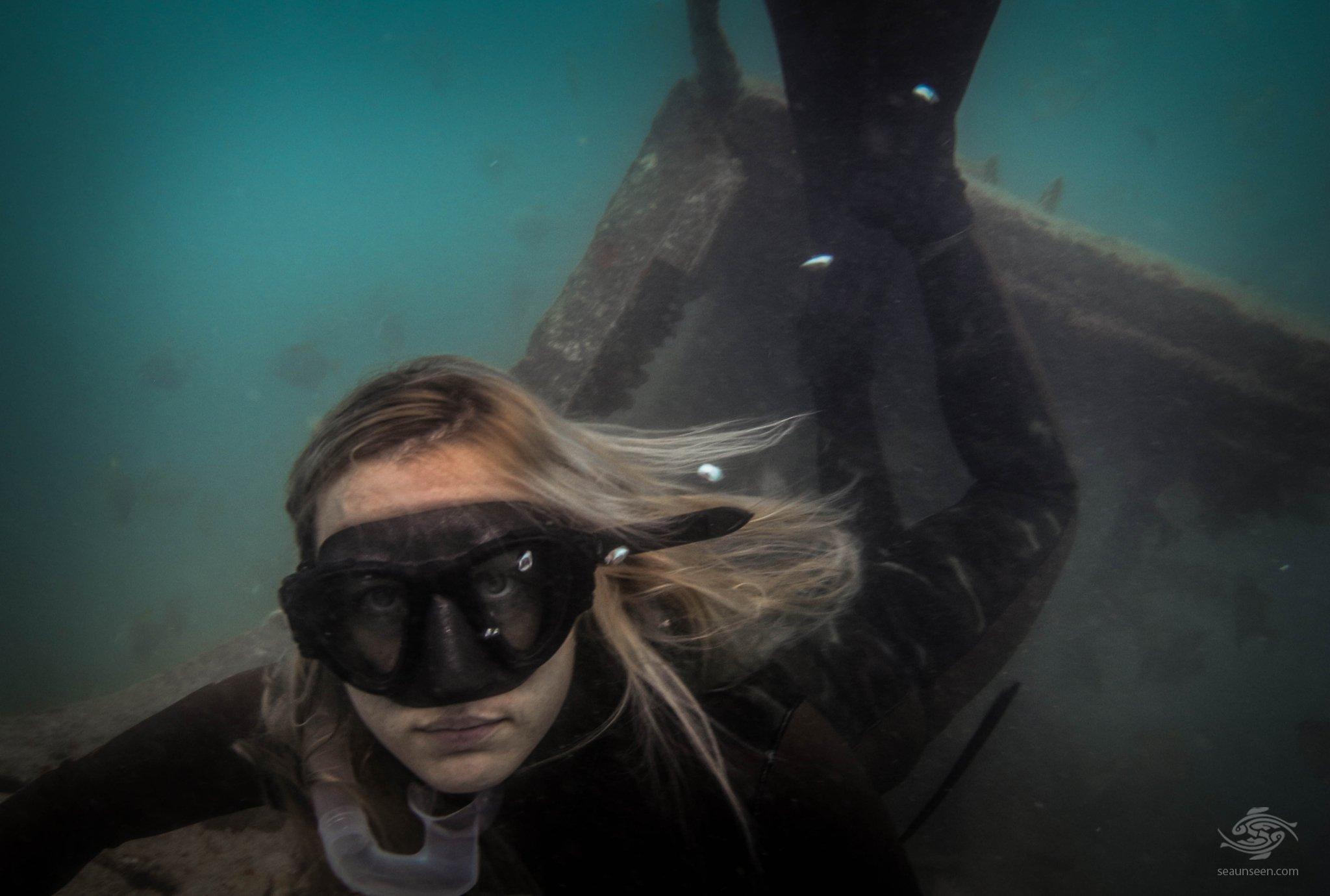 Renee Blundon Free-diving