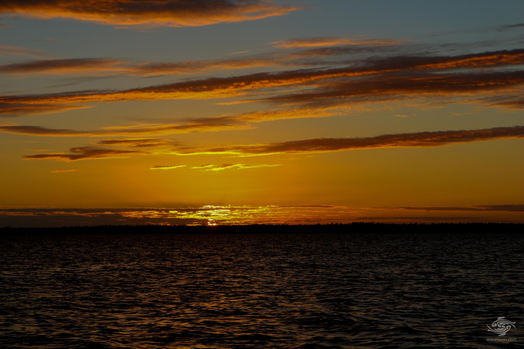 Sunset with Mafia Island in background