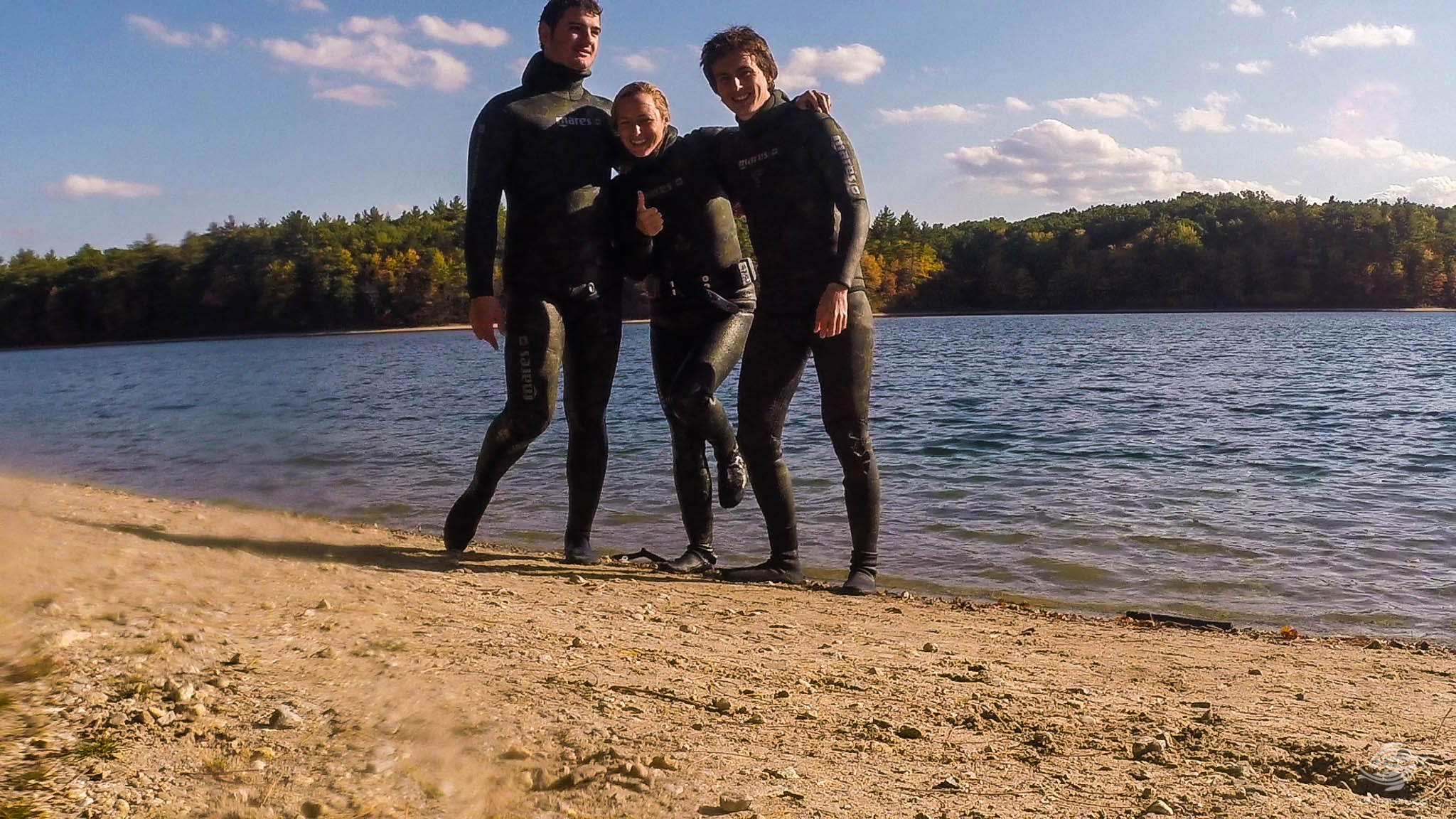 Free-Diving Walden Pond