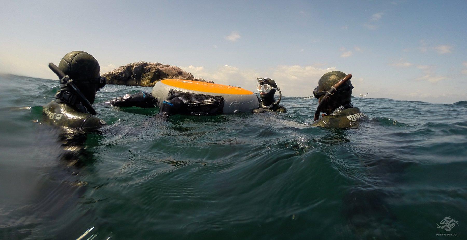 Diving at Halfway Rock